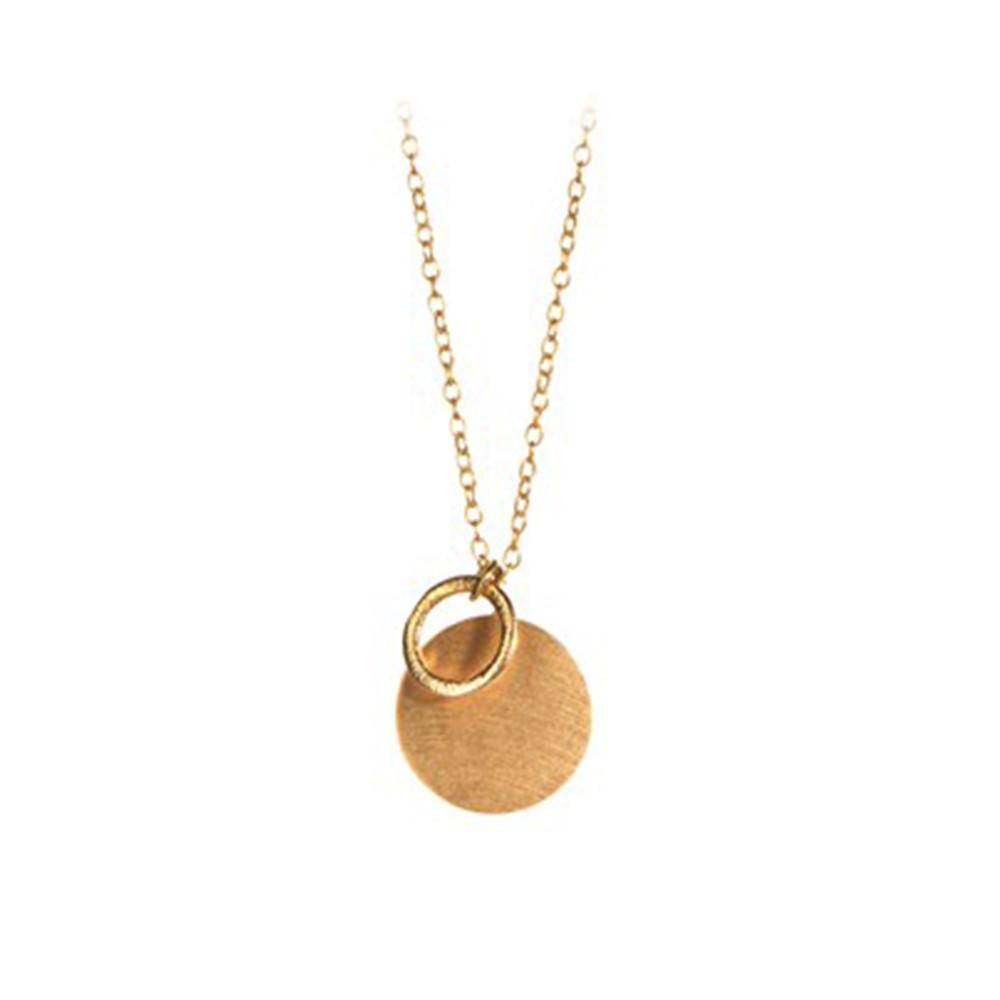 Coin & Circle Necklace - Gold
