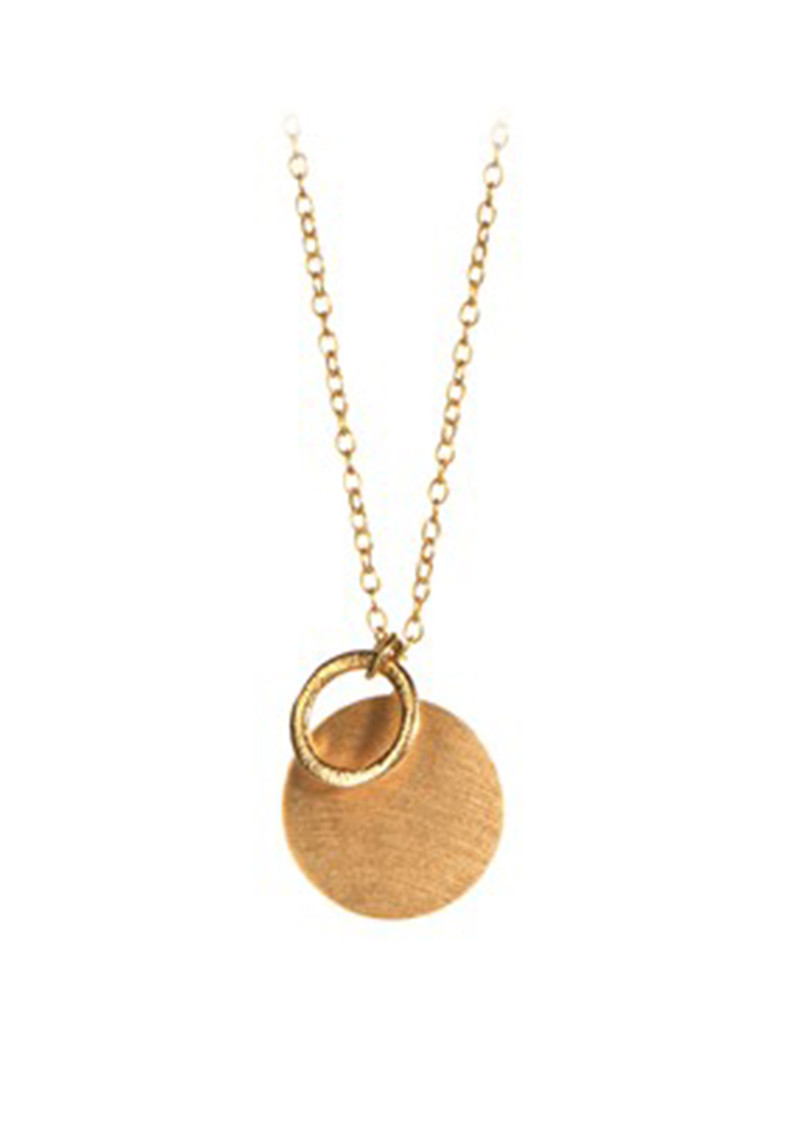 Coin & Circle Necklace - Gold main image