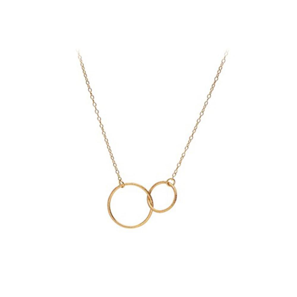 Double Plain Necklace - Gold