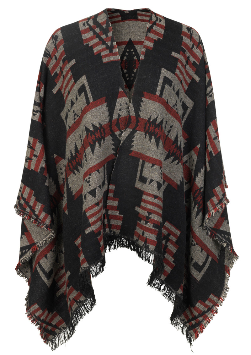 T-Ethnic Cape - Black main image