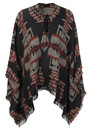 T-Ethnic Cape - Black additional image