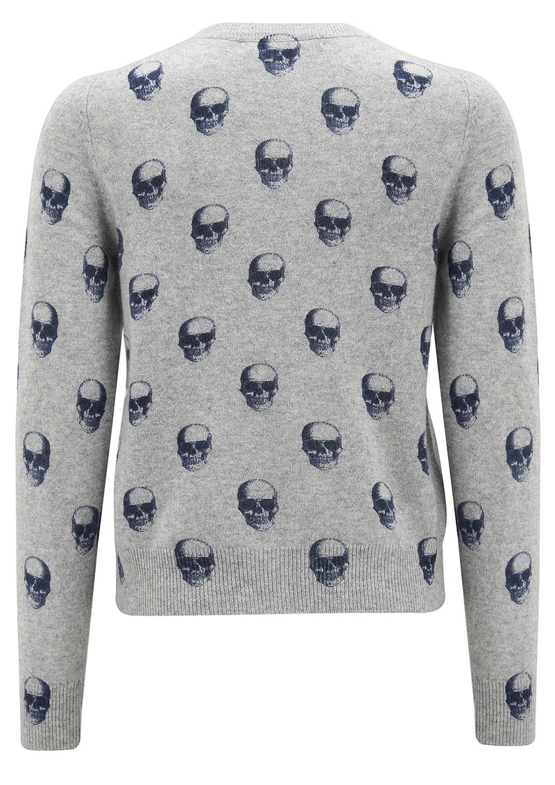 Skull Cashmere Felony Sweater - Midnight Print main image