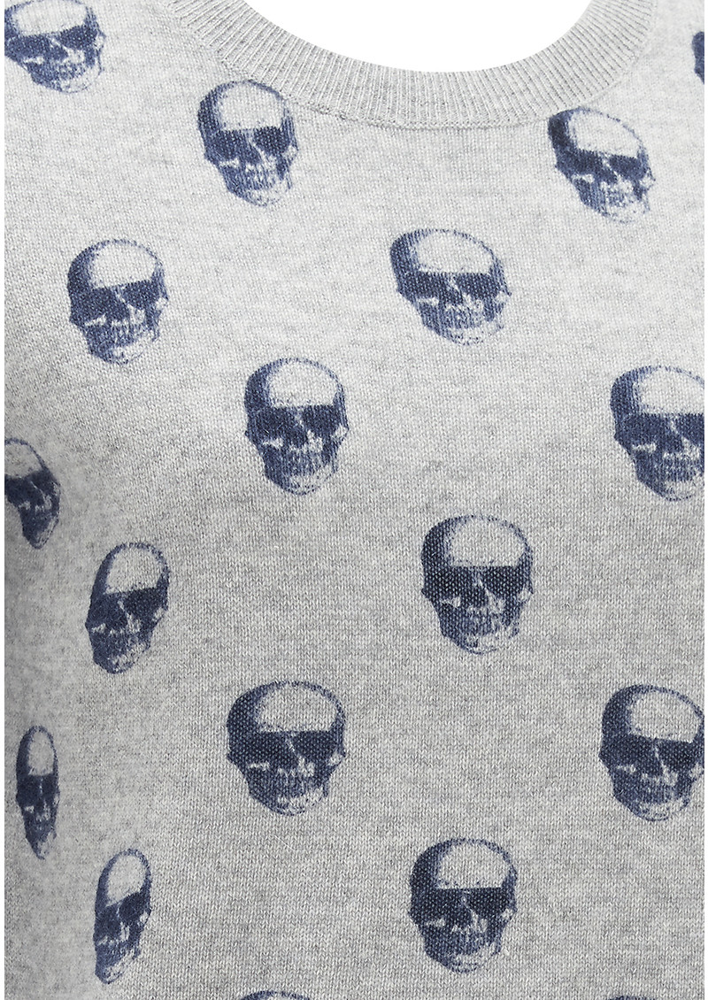 360 SWEATER Skull Cashmere Felony Sweater - Midnight Print main image