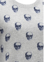 360 SWEATER Skull Cashmere Felony Sweater - Midnight Print