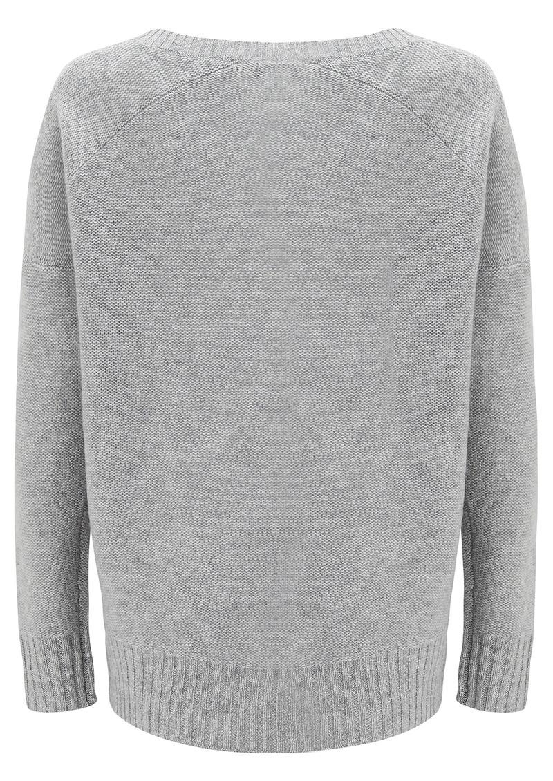 360 SWEATER Dewey Cashmere Sweater - Heather Grey main image
