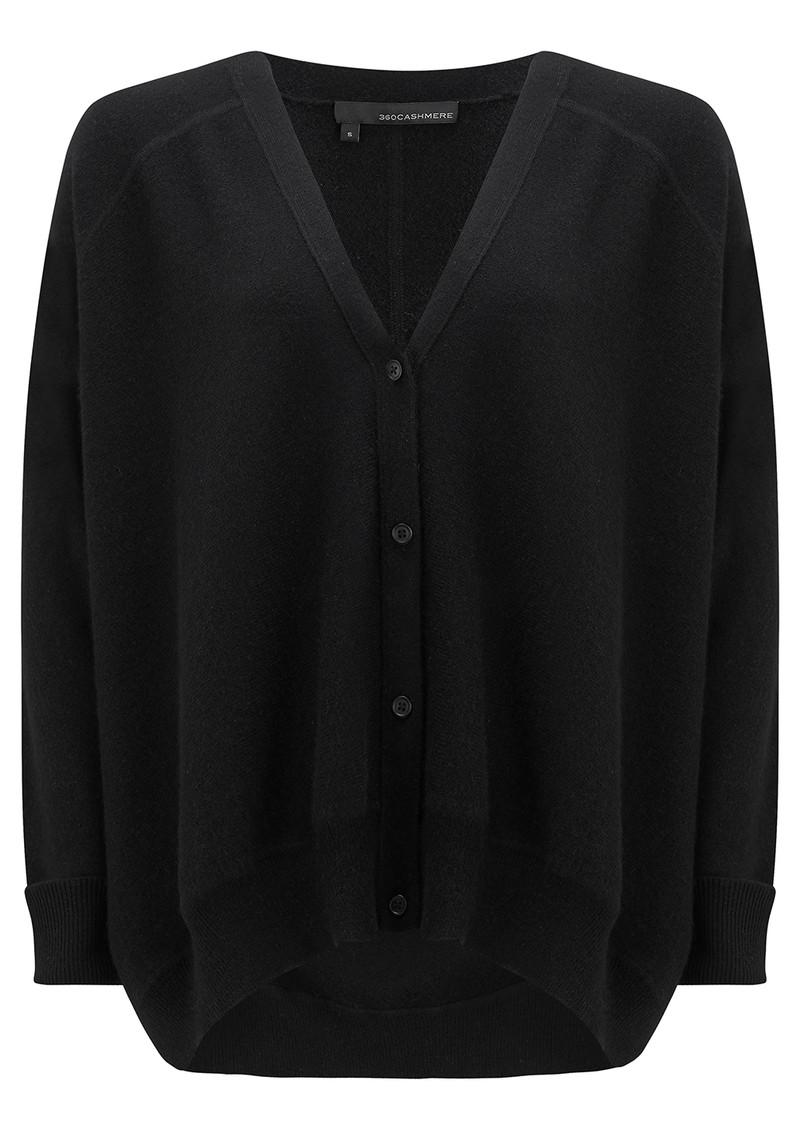 360 SWEATER Dempsey Cashmere Cardigan - Black main image