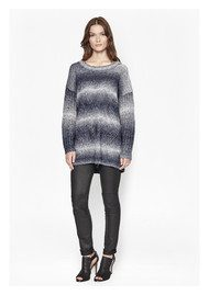 Great Plains Angela ZigZag Oversized Jumper - True Navy Combo