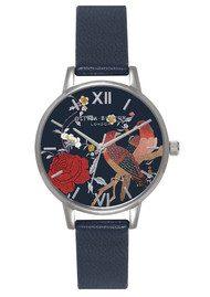 Olivia Burton Oriental Opulence Midi Dial Watch - Navy & Silver