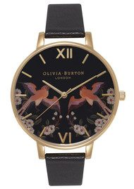 Olivia Burton Oriental Opulence Friendship Birds Watch - Black & Gold