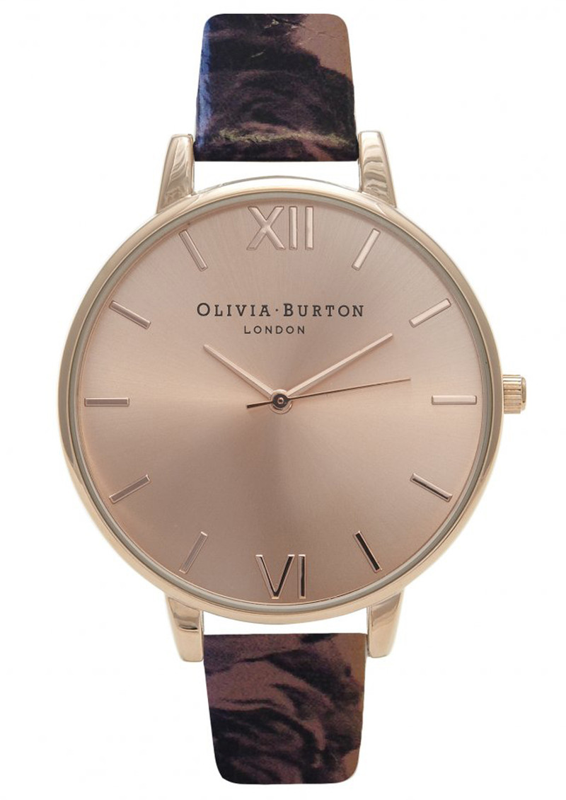Olivia Burton Painterly Prints Floral Strap Watch - Rose Gold main image