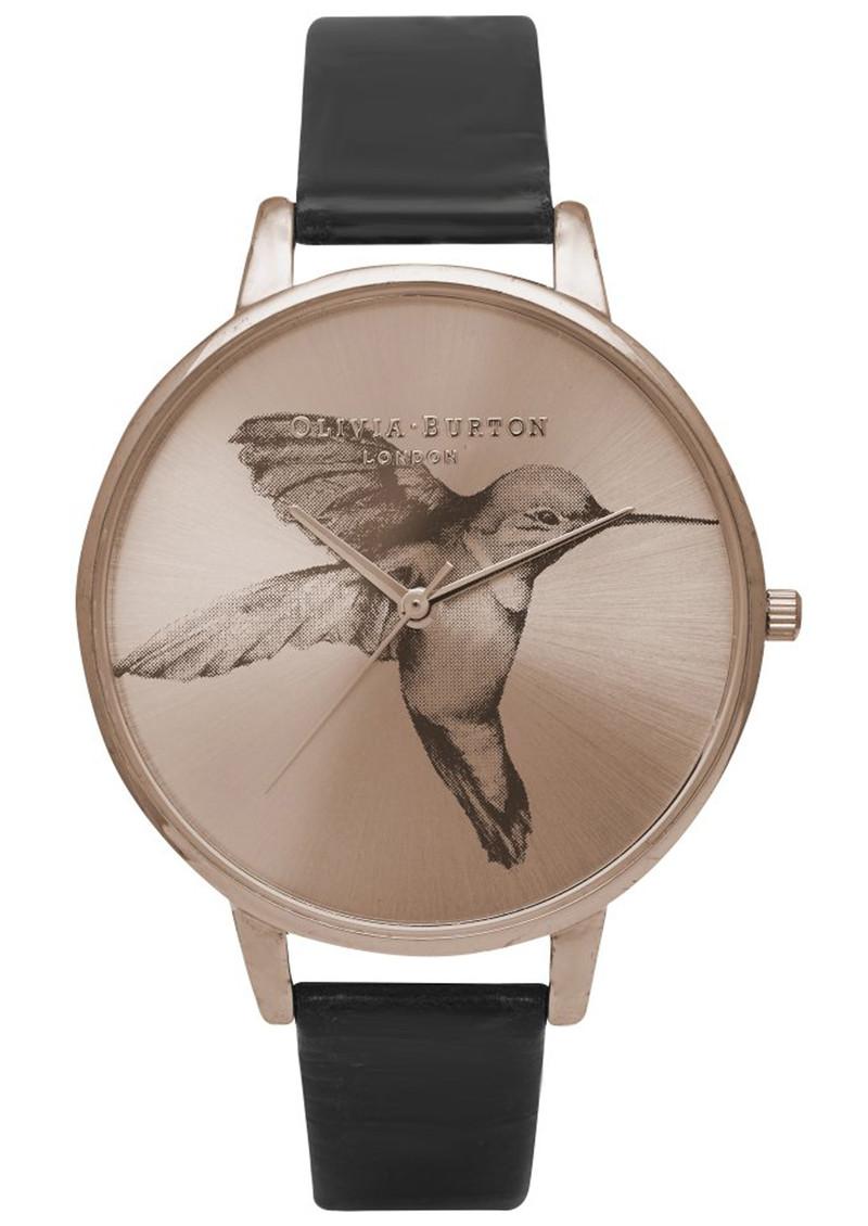 Olivia Burton Animal Motif Hummingbird Watch - Sunray Rose Gold & Black main image