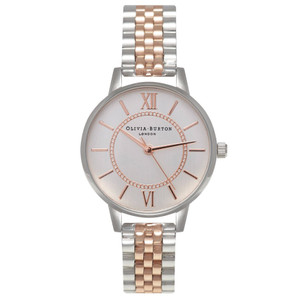 Wonderland Mix Metal Bracelet Watch - Silver & Rose Gold