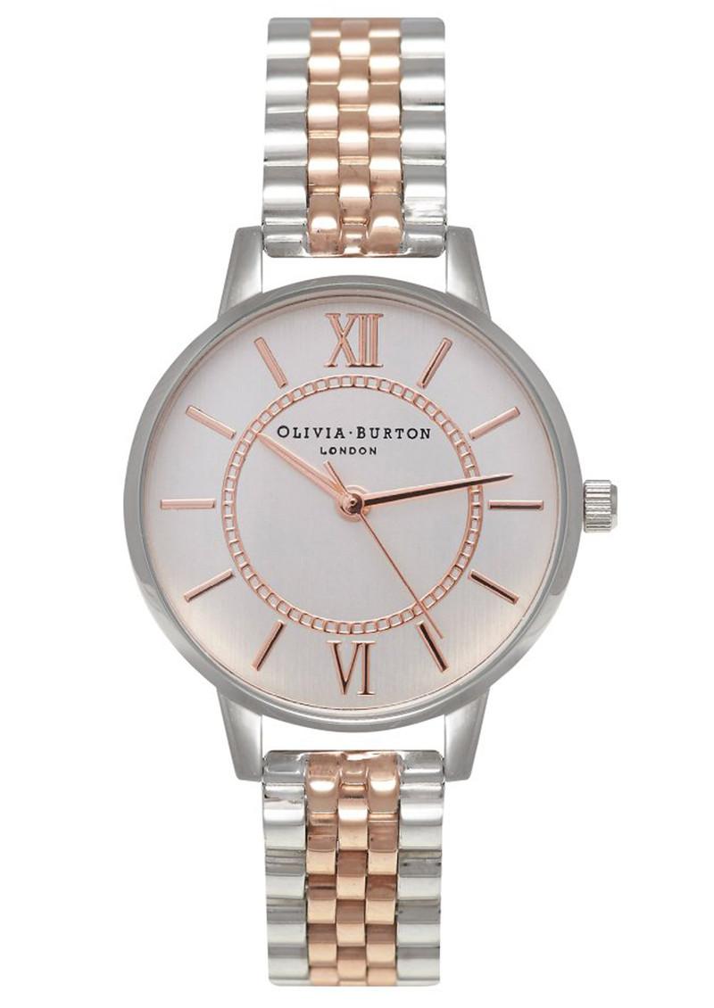 Olivia Burton Wonderland Mix Metal Bracelet Watch - Silver & Rose Gold main image