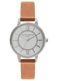 Olivia Burton Wonderland Watch - Tan & Silver