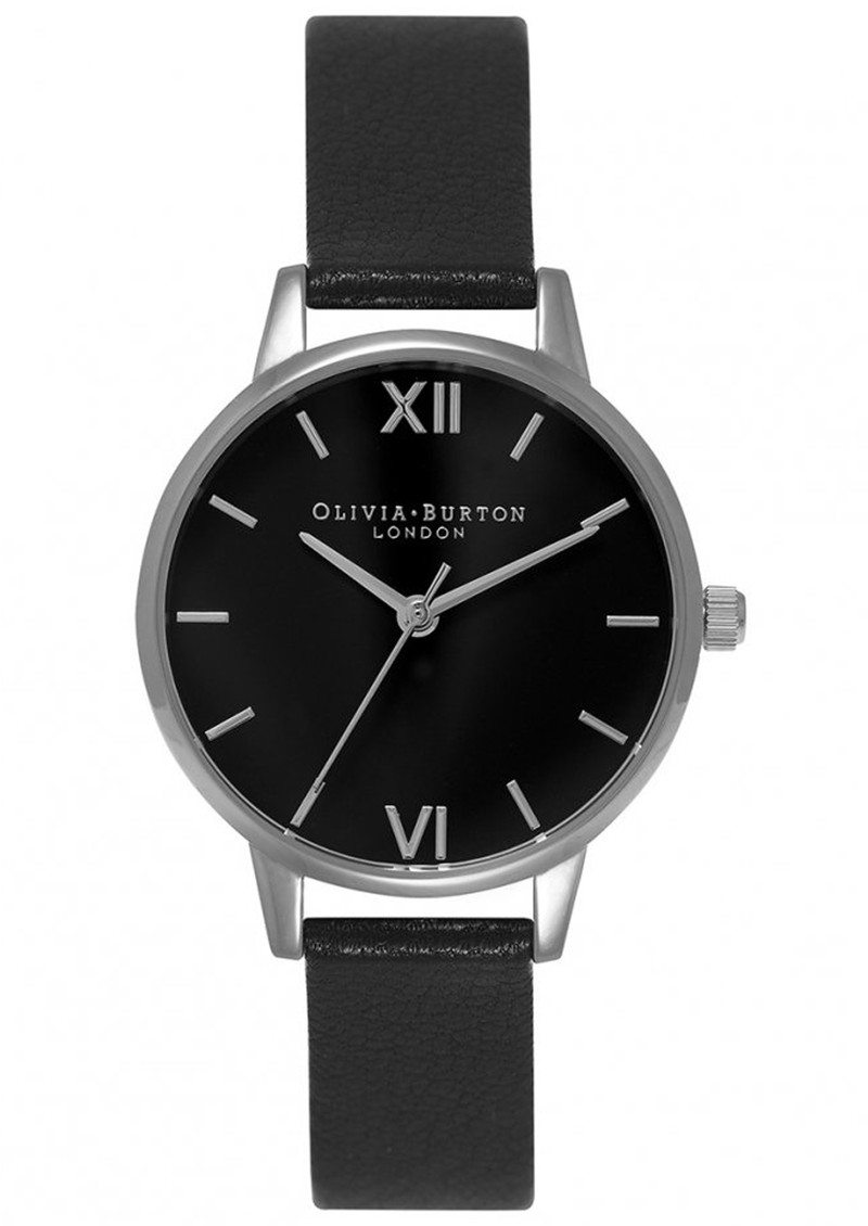 Olivia Burton Midi Dial Black Dial Watch - Black & Silver main image