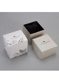 Olivia Burton Midi Dial Black Dial Watch - Black & Silver