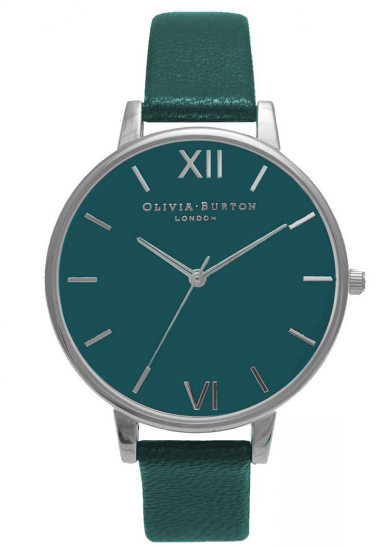 Olivia Burton Big Teal Dial Watch - Teal & Silver main image