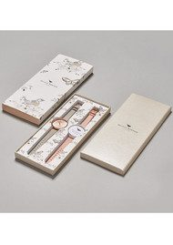 Olivia Burton Big Dial Interchangeable Strap Gift Set - Grey, Dusty Pink & Rose Gold