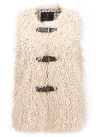 Unreal Fur Pastorale Vest - Cream Curly