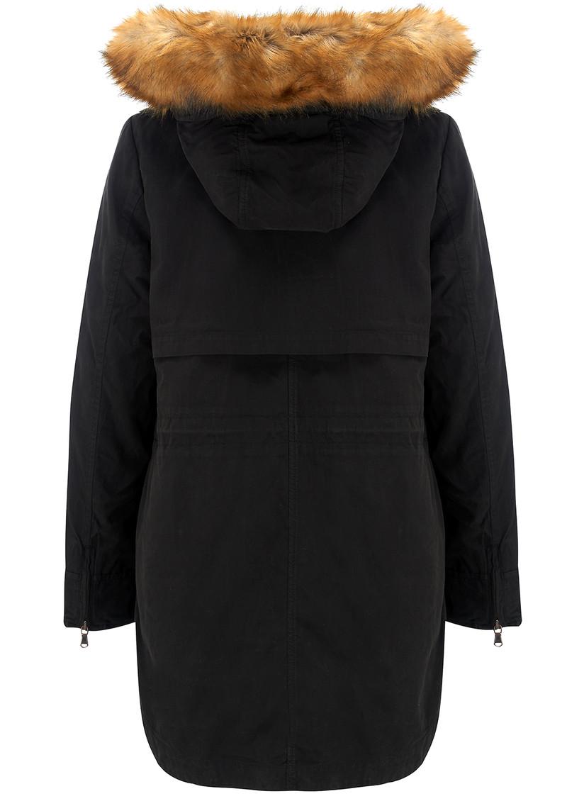 PARKA LONDON Lara Parka Coat - Black main image