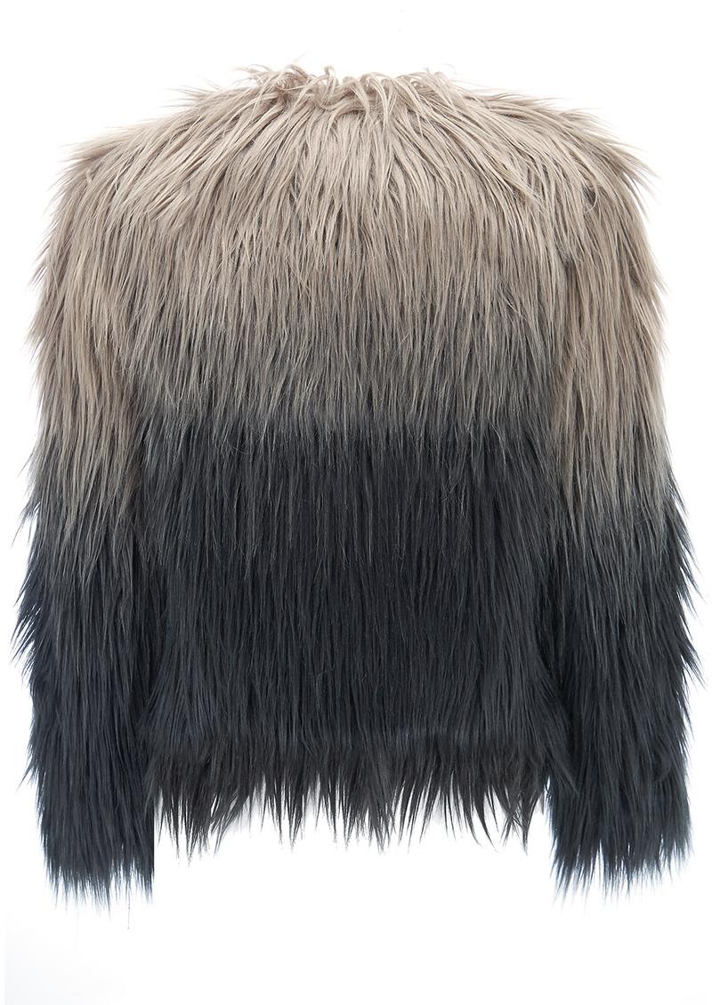Unreal Fur Dream Jacket - Grey Ombre main image