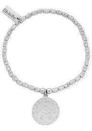 ChloBo Sparkle Dotty Peace Bracelet - Silver