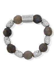 ChloBo Labradorite Sparkle Ring - Silver