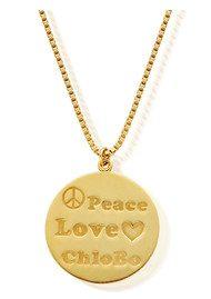 ChloBo Peace Love Chlobo Chain Necklace - Gold