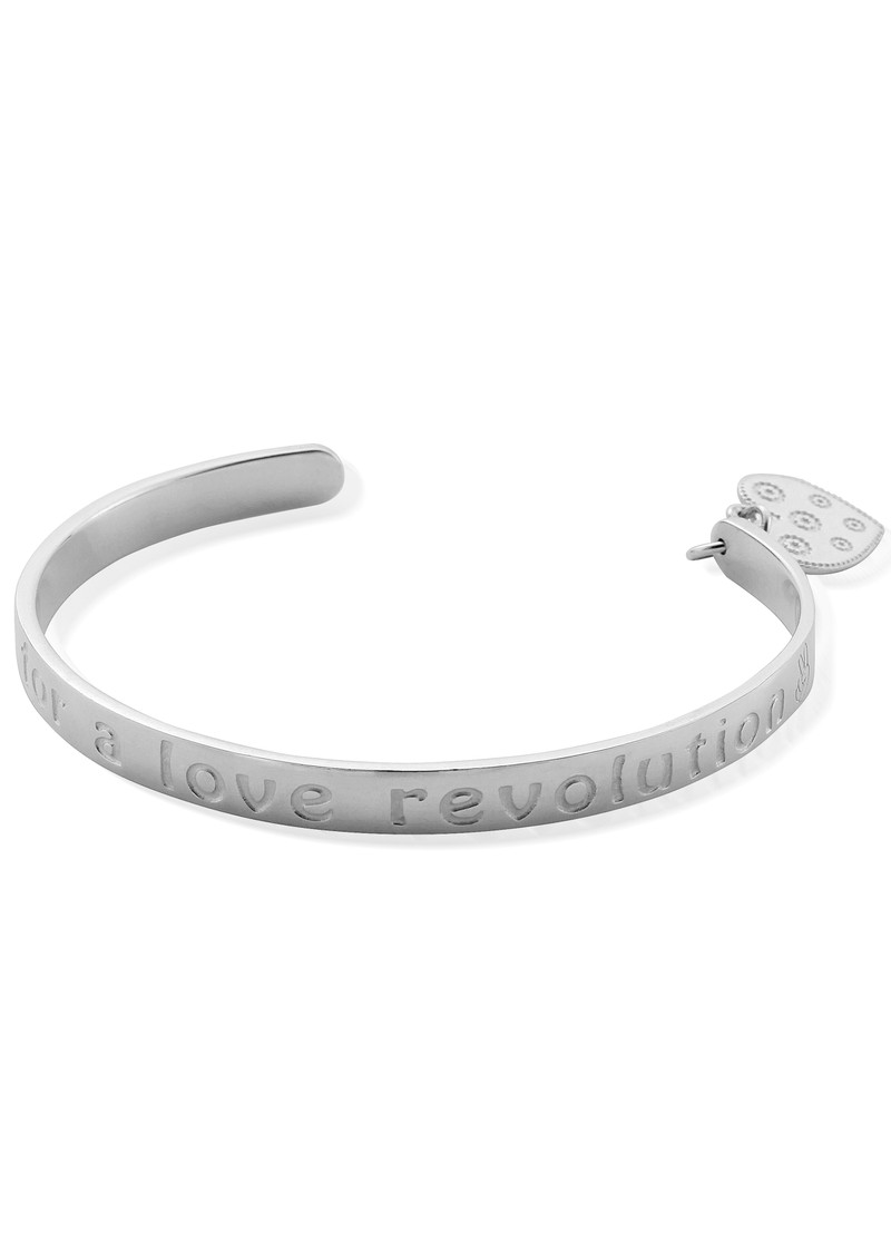 ChloBo Love Revolution Bangle - Silver main image
