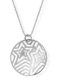 ChloBo Filigree Star Diamond Cut Chain - Silver