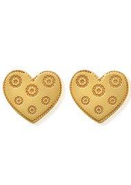 ChloBo Multi Flower Heart Earrings - Gold