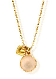 ChloBo Rose Quartz Chain Necklace - Gold