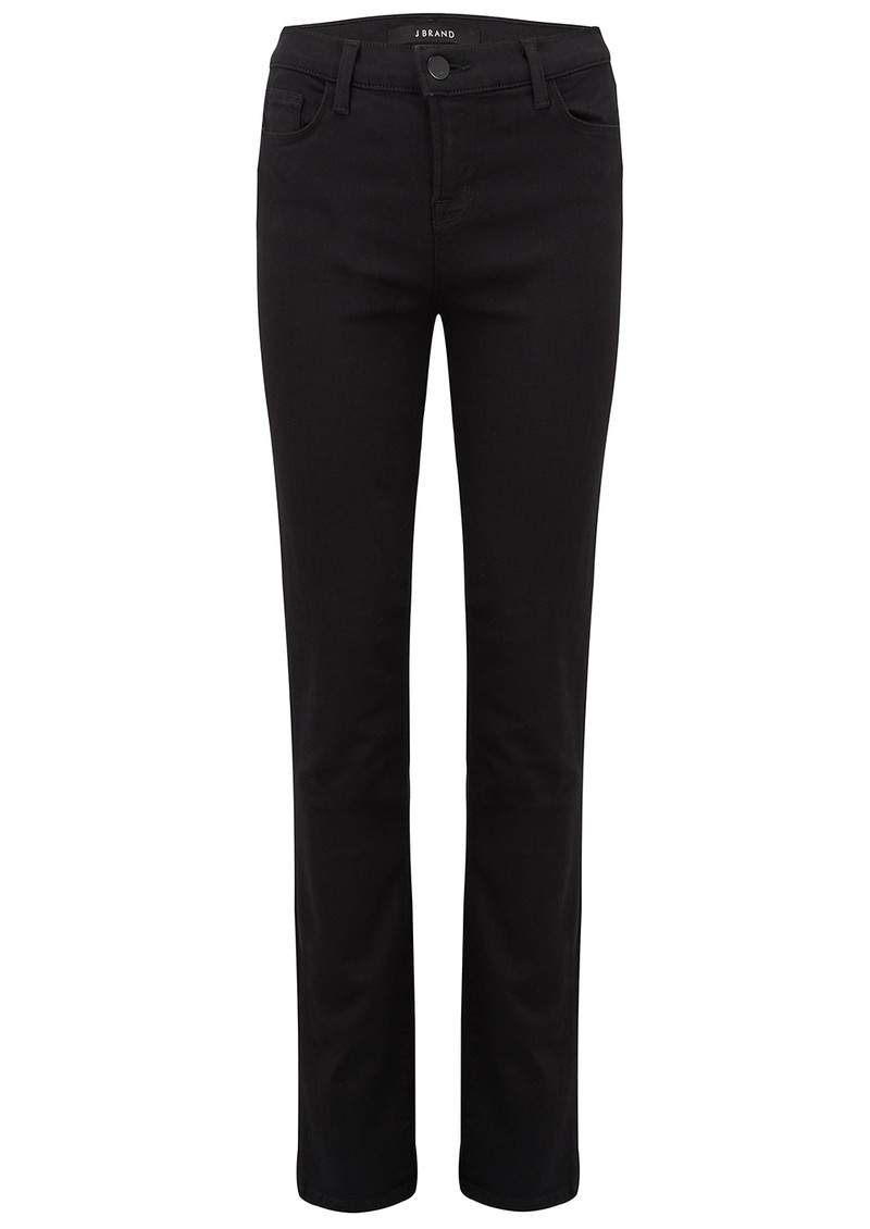 J Brand Maria High Rise Straight Leg Jeans - Seriously Black main image