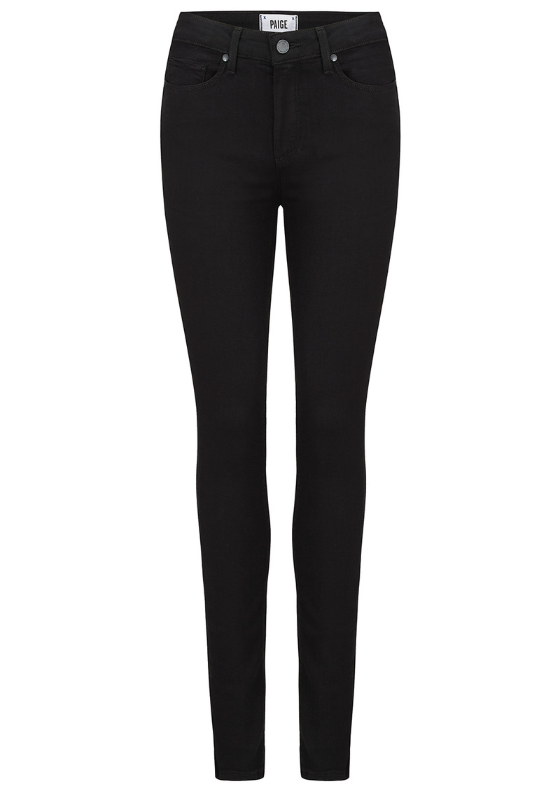 Paige Denim Hoxton High Rise Ultra Skinny Transcend Jeans - Black Shadow main image