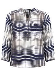 Mercy Delta Stanford Blouse - Plaid Elm