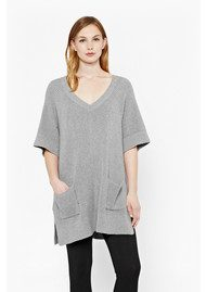 Great Plains Heavenly Knitted Tunic Jumper - Persian Grey Melange