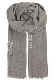 Becksondergaard V-Tamano Sequin Wool Scarf - Grey Melange