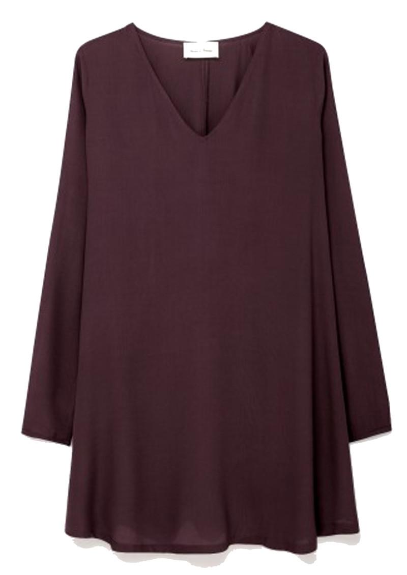 American Vintage Abysville Long Sleeve Dress - Burgandy main image