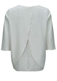 COOPER AND ELLA Casey Novelty Top - White