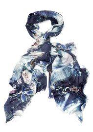 Lily and Lionel Marnie Printed Scarf - Indigo Blue