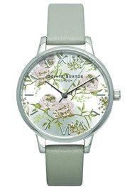 Olivia Burton Parlour Midi Dial Watch - Grey & Silver