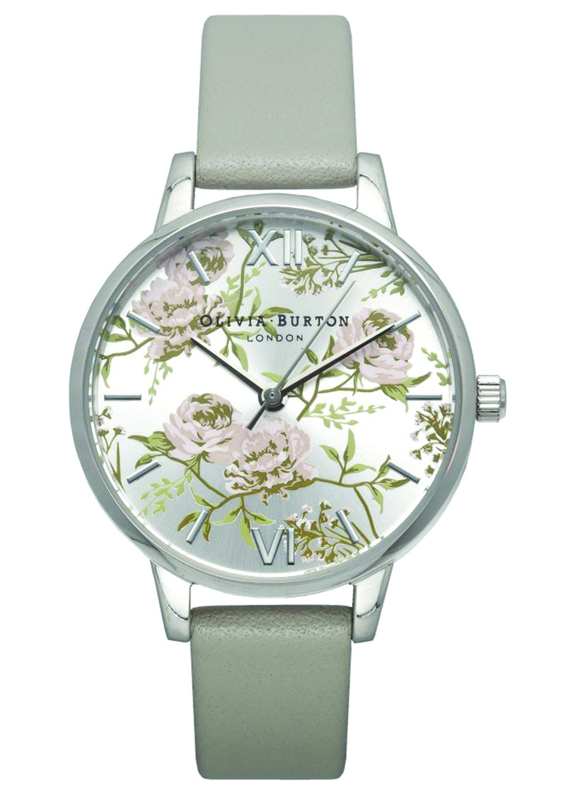 Olivia Burton Parlour Midi Dial Watch - Grey & Silver main image