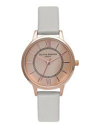 Olivia Burton Wonderland Watch - Grey & Rose Gold