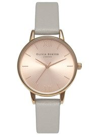 Olivia Burton Midi Dial Watch - Grey & Rose Gold