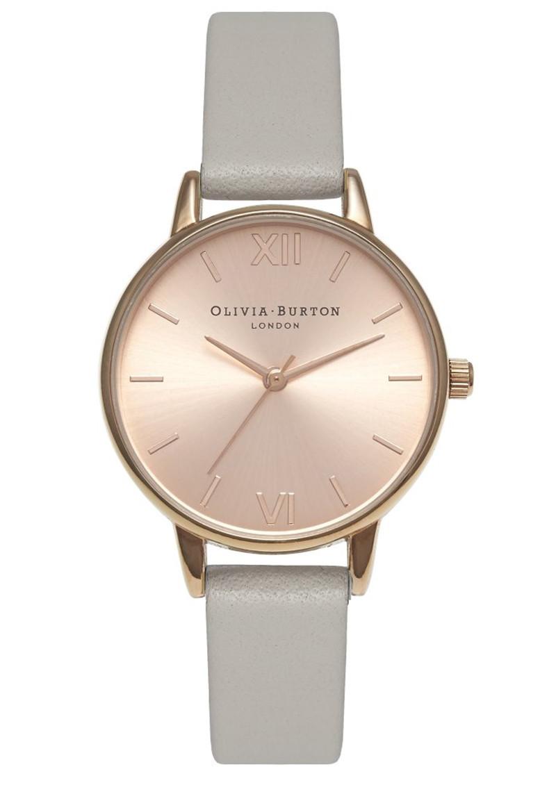 Olivia Burton Midi Dial Watch - Grey & Rose Gold main image