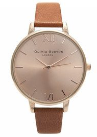 Olivia Burton Big Dial Watch - Tan & Rose Gold