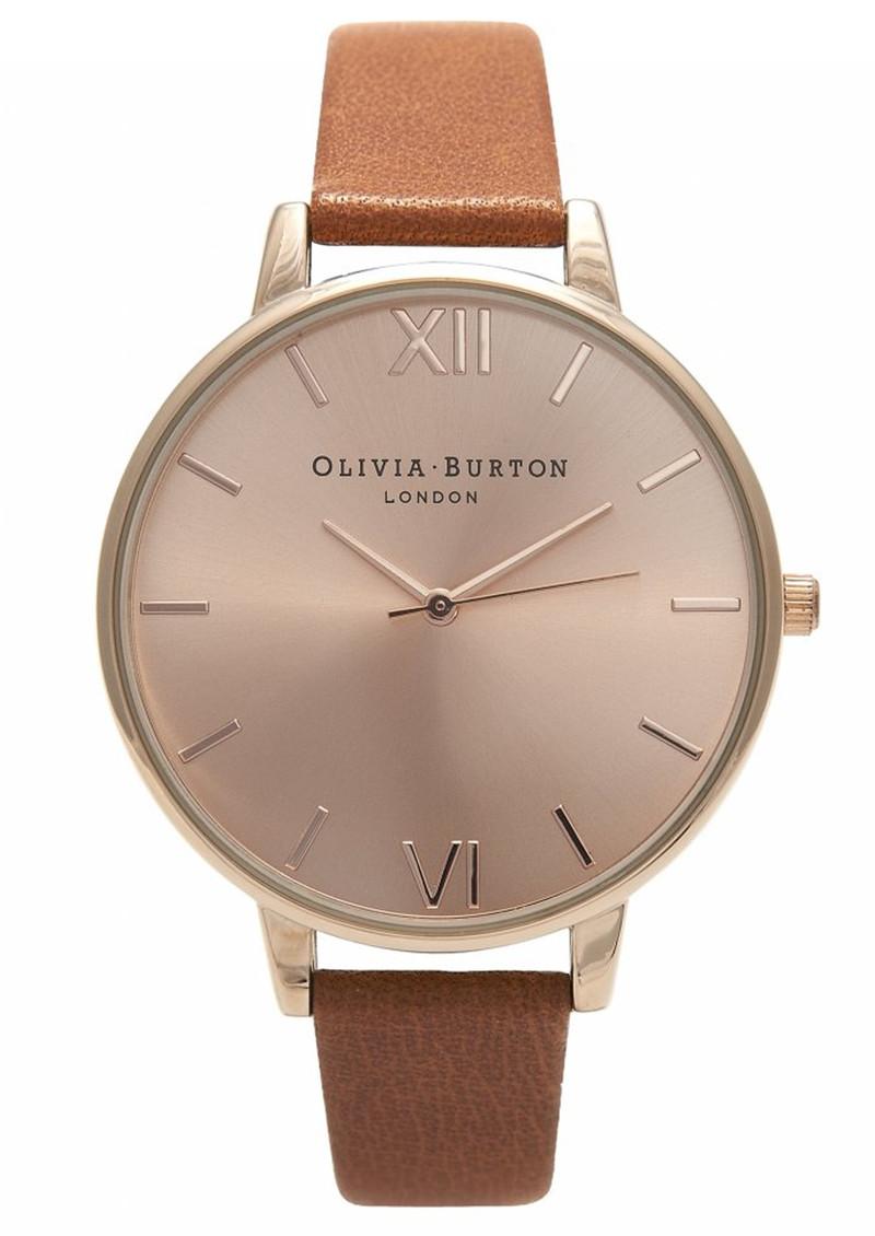 Olivia Burton Big Dial Watch - Tan & Rose Gold main image