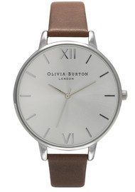Olivia Burton Big Dial Watch = Brown & Silver