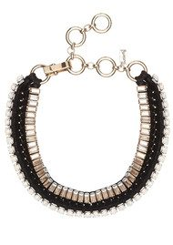 Butterfly Bold Statement High Voltage Necklace - Black & Champagne