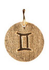 PERNILLE CORYDON Zodiac Sign Gold Charm - Gemini